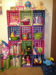 Alluring Colorful Milk Crates Make Great Storage Shelves For Kids Room Crate Bin