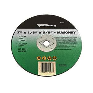 "Forney Cut-Off Wheel - Masonry Type, 7""x1/8""x5/8"""