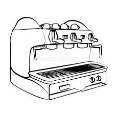 Download Espresso Machine Coffee Stock Illustration