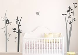 autocollant chambre bébé stickers arbre chambre bébé avec oiseaux autocollants pour enfants