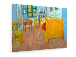 stretched textile canvas print vincent gogh the bedroom