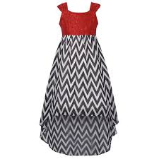 A Festive Hi Low Dress For Your Girl By Tween Diva Red Sparkly Top