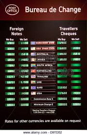 compare bureau de change exchange rates foreign exchange rates board stock photos foreign exchange rates