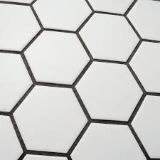 Home Depot Merola Hex Tile by Somertile Fxlm2hmw Retro Hex Porcelain Floor And Wall Tile 10 5