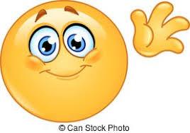 Waving hello emoticon Cute emoticon waving hello