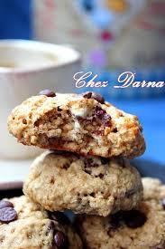 dessert a base de compote de pommes cookies légers à la compote de pommes aux flocons d avoine كوكيز