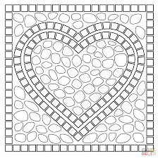 Click The Mosaic Heart Coloring Pages To View Printable