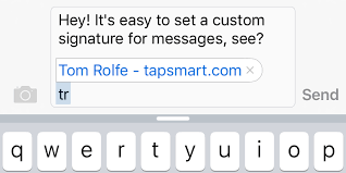Guide How to add a signature to your text messages on iPhone