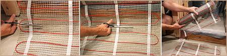 how to install heated tile floor warmzone radiant heat