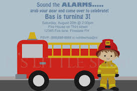 Trend Of Fire Truck Birthday Party Invitations Sansalvaje Com ...