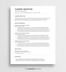 Free ATS Resume Template - Carrie - Career Reload Resume Templates The 2019 Guide To Choosing The Best Free Overview Main Types How Choose 5 Google Docs And Use Them Muse Bakchos Professional Template Resumgocom Clean Simple 2 Pages Modern Cv Word Cover Letter References Instant Download Mac Pc Lisa Examples By Real People Dancer 45 Minimalist Pillar Bootstrap 4 Resumecv For Developers 3 Page 15 Student Now Business Analyst Mplates