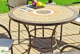 table ronde mosaique fer forge salon de jardin mosaique et fer forge zellige 2 table ronde qaland