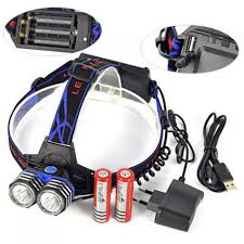 aibber tone xml t6 led 4 mode phare rechargeable torche frontale