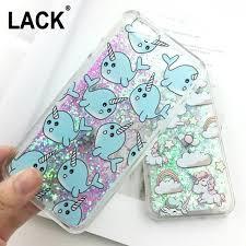 Cute Cartoon Unicorn Case For iPhone 6 6S Dynamic Glitter Stars