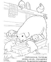 Farm Animal Coloring Page Free Printable Pigs Slop Pages Of Animals Sheets
