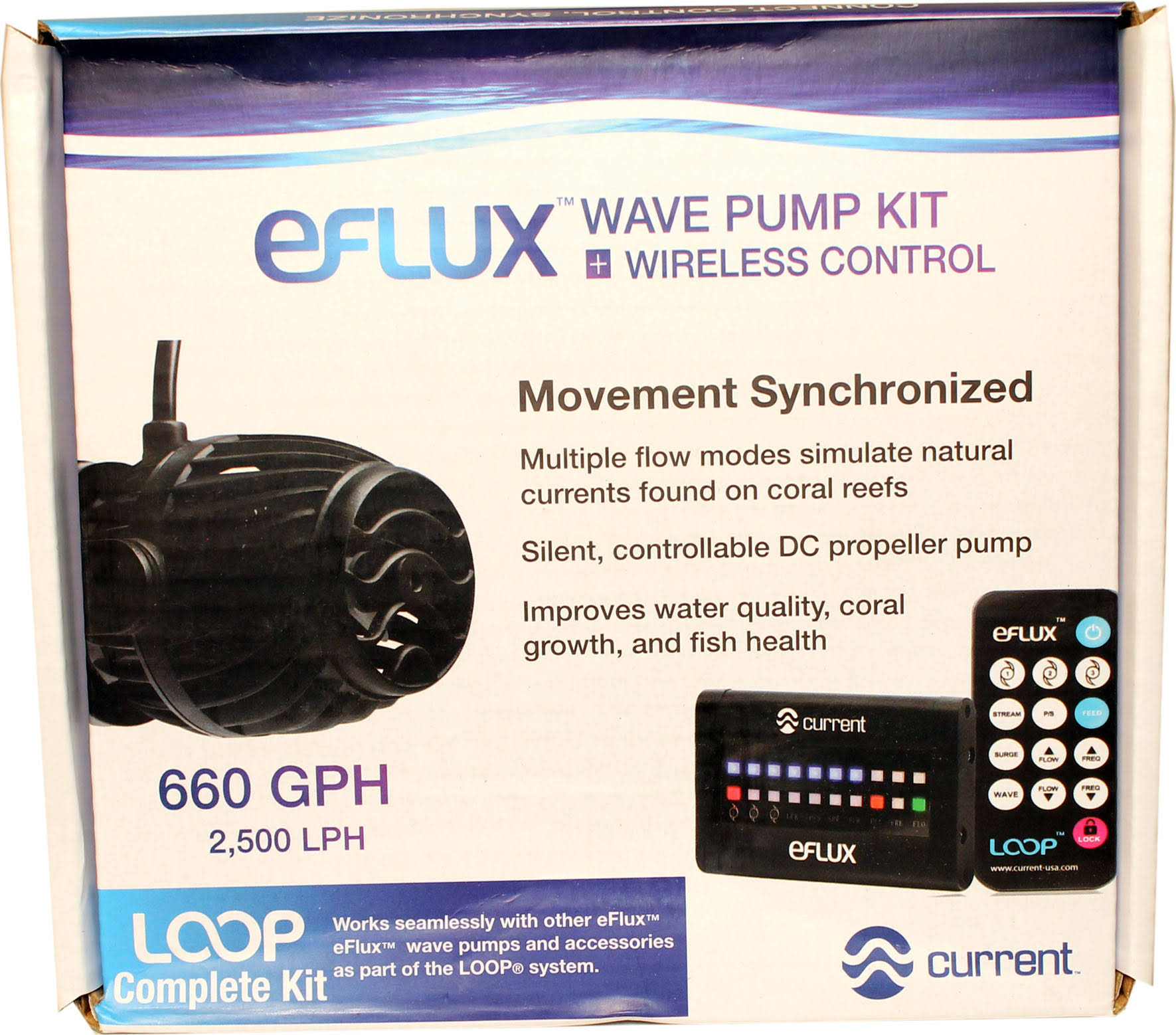 Current USA 6000 eFlux Wave Pump Kit - 660 GPH