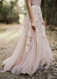 Vintage Pink Light Wedding Dress Woods Rustic Bride