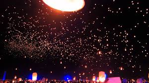 Rise Festival First Wave of Lanterns 2015 Mojave Desert Near