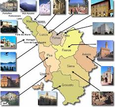 Tuscany Tourist City Sight Of Taste Sounds The Art Towns In Italy Information Map Most Important