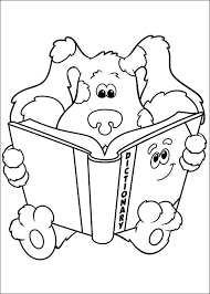 Blues Reading A Book Coloring Page
