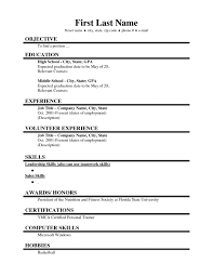 Resume Examples High School Student Template No Experience