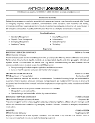 Resume Templates Emergency Communications Specialist