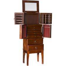 Sei Traditional Jewelry Armoire   Jewelry Armoires   Jewelry ... Belham Living Swivel Cheval Mirror Jewelry Armoire Hayneedle Armoire Jewelry Cabinet Abolishrmcom Powell Lightly Distressed Deep Cherry Armoires And Chests Organizeit Coaster 900146 White Traditional Fniture Style Wood Wall Mounted Wooden Full Length Storage Walmartcom Harper Espresso Heritage Oak Drawers Florentine Collection Fascating Free Standing