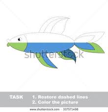 Vector Trace Game Fish To Be Colored