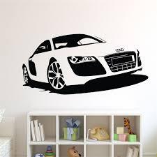 stickers voiture pour chambre garcon t06054 creative voiture stickers muraux grande voiture de course
