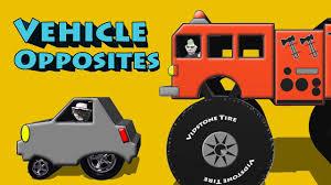 100 Youtube Big Trucks Vehicle Opposites Truck Small Car Long Limo Short Hybrid Up