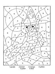 Fall And Halloween Coloring Pages Color By Number To Print Free Printable