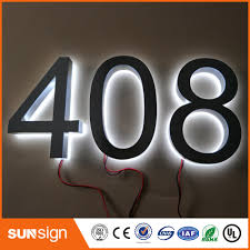 Factory Outlet Outdoor Advertising Backlit Stainless Steel Led