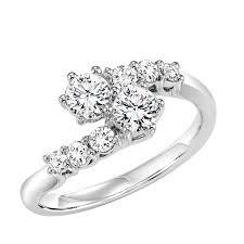Diamond Two Stone Ring