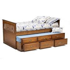 bernards logan twin captain s bed with trundle drawers wayside