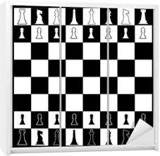 Chess Board Layout Wardrobe Sticker