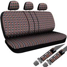 8pc OxGord Brown Plaid Bench Seat Covers TRUCK Steering Wheel ... 1950 Chevy Truck Seat Covers Wiring Diagrams Amazoncom Unique Imports Premier Knit Mesh Full Size Bench Fits Chevrolet Solid Rugged Fit Custom Car Gray Home Idea Together With Camo Awesome Advanced Design Surprising Winter Cover Professional Innx Op902001 Waterproof Quilted Dog With Non Slip New Aftermarket Seats Saddle Blanket Navy Blue 1pc Ford 731980 Chevroletgmc Standard Cabcrew Cab Pickup Front