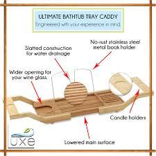 Bamboo Bath Caddy Uk by Bath Reading Rack Cintinel Com