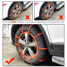 ZDPARTS Car Sedan/SUV Snow Chains Wheel Tyre Anti Skid Chain For ...