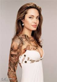 Angelina Jolie Have A Tattoo On Her Gull Armm Celebrity Tattooing