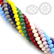 Porcelain Glass Beads 10MM 72pcs Lot Faceted Flat Loose Rondelle Round Spacer Crystals For