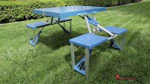 outsunny new outdoor picnic table portable folding camping with