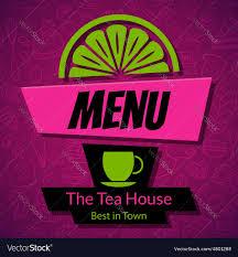 100 Tea House Design Modern Menu Card Template