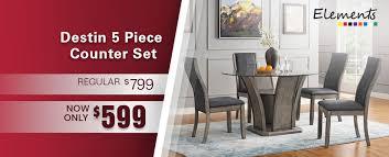 Elements Destin Dinette Power Sectional With LED Lighting Bedroom Sets Dining Room