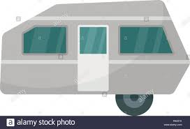 100 Modern Travel Trailer Camp Trailer Icon Flat Illustration Of Modern Camp Trailer