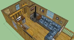12 X 24 Gable Shed Plans by Sweatsville 12 U0027 X 24 U0027 Lofted Barn Cabin In Sketchup