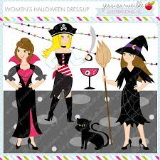 Women Halloween Dress Up Graphics Female Characters Costumes Adult Party Commercial USE OK Clipart