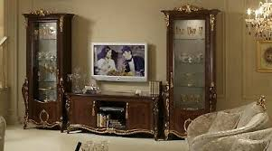 klassisch wohnwand vitrine kommode schrank sideboard barock