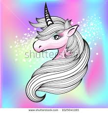 Hand Drawn Fantasy Unicorn And Rainbow Background Design For Fabric Card Wallpaper