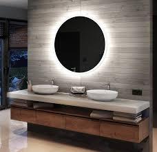 rund badspiegel mit led beleuchtung 50 100 cm wandspiegel