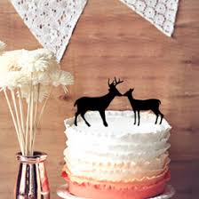 Hunting Wedding Cake Topper Buck And Doe Country Rustic Toppers On Sale
